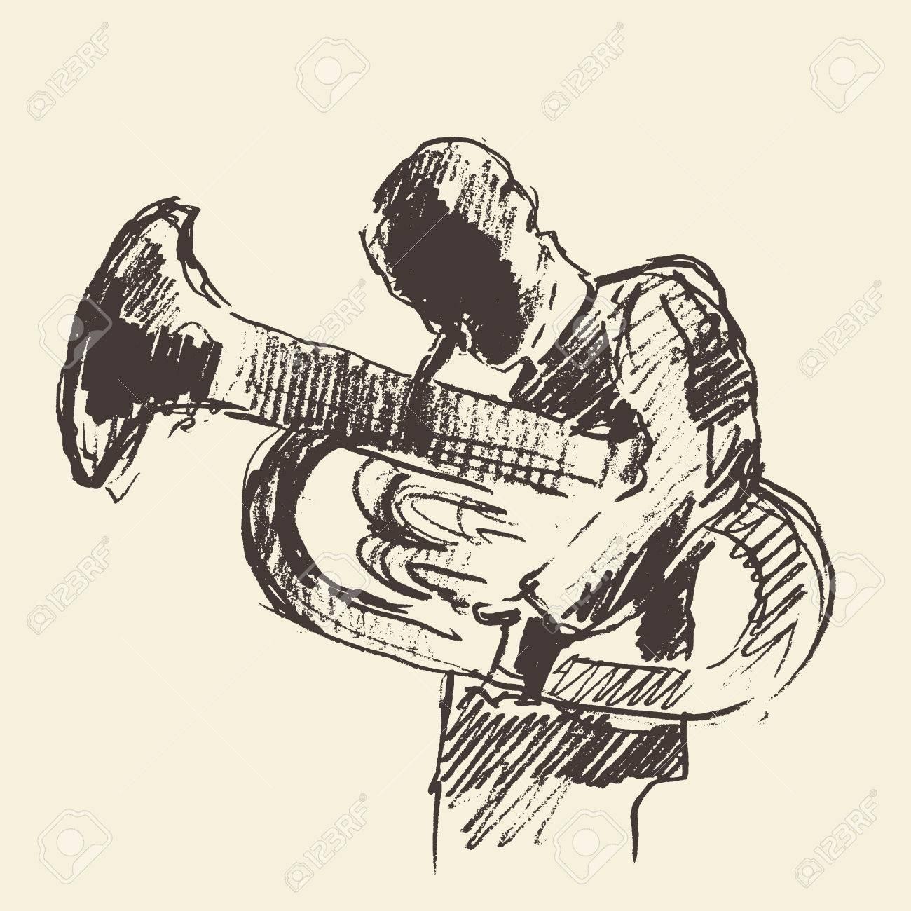 Jazz tuba speler